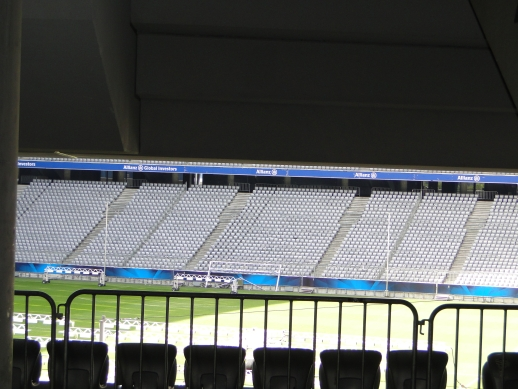Interior do Allianz Arena - Munique, Alemanha